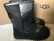 UGG Women Classic Glitter PatchWork Boots NWB Size 7 Black Color