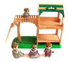 SYLVANIAN FAMILIES Meerkats House playset with 4 figures lot RARE