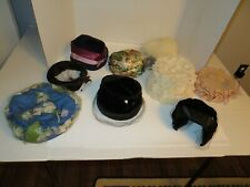 Lot of 9 Vintage Lady's Hats-Netting, Flowers, Others Lot #1