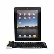 Bluetooth Wireless Waterproof Roll Silicone Keyboard for iPhone /iPad 4/3/2 mini