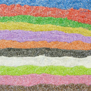 Coloured sand with glitter.  Choose colour 200g Arts Crafts SAND & GLITTER mix