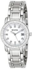 Bulova 96R105 Women's Dress Diamond-Accented MOP Dial Stainless Steel Date Watch