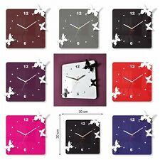 Modern Large 3D Wall Clock Home Decoration Living Room Bedroom Kitchen Butterfly