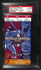 2002 WORLD SERIES GAME 7 ANAHEIM ANGELS 1ST WS TITLE CHAMPIONS TICKET PSA RARE!!