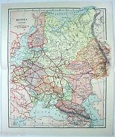 Original 1895 Map of European Russia in the Czarist Era