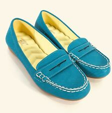 Cushion Walk by Avon size 7 Lightweight Faux Leather Turquoise Penny Loafer