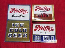 3 Different Pfeiffer Beer Stickers / Decals