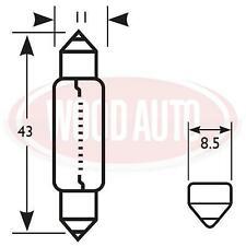 2 X BLB258 258  6 VOLT 6 WATT FESTOON MOTORBIKE SCOOTER BULBS 11 x 43mm