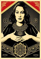 A4 SHEPARD FAIREY USA OBEY PEACE & JUSTICE A4 CLOSSY PHOTO POSTER A4 SIZE #2