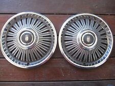 "1966 CHEVROLET Chevy II 14"" HUBCAP HUB CAP, SET OF TWO"