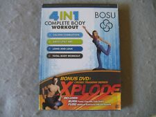 Bosu 4 in 1 Complete Body Workout 2 Dvds Chalene Johnson Keli Roberts