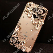 Bling Transparent Back Case Crystal Luxury TPU+PC Cover For iPhone 6/7/8 Plus/X
