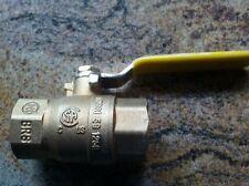 """Brass Ball Valve 3/4"""" #Q11F-600TB  Gas or Oil no Human H2O ZHIQING"""
