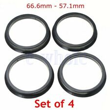 4 Hub Centric Rings 66.6mm to 57.1mm | Hubcentric Ring 66.6-57.1 fit for AUDI TW