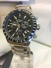 Gents Rotary stainless steel Chronograph Watch on Bracelet GB00055/04 RRP £395