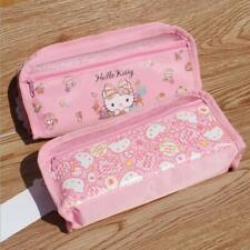 Cute Hello Kitty Pen Pencil Box Bag Ruler Eraser Storage Zipper Case Pouch