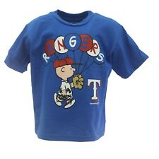 Texas Rangers Mlb Genuine Infant Toddler Size Peanuts Charlie Brown T-Shirt New