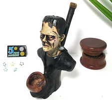 Ceramic Figure Tobacco Smoking Pipe FREE Wood Grinder 5 Metal Screens 5 Glass