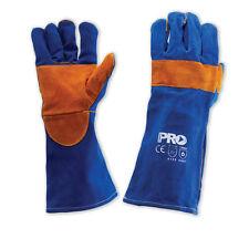 Prochoice Pyromate WELDING GLOVES 406mm 1Pair, BLUE Heeler,Gold Kevlar*AUS Brand