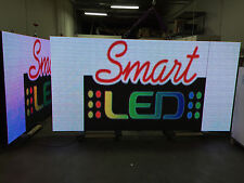 "1 SIDED OUTDOOR 4x8 FULL COLOR LED SIGN  100""L X 50""H PROGRAMMABLE SIGN P16 16mm"