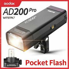 Newest Godox AD200Pro Pocket Flash TTL 2.4G Wireless 2900mAhLi-ion Battery