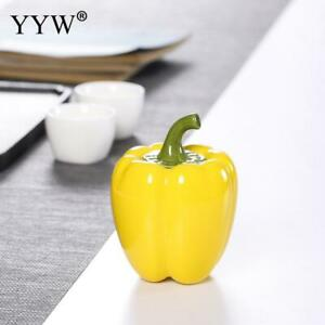 Bell Pepper Shape Tea Box Canister Ceramic Food Container Tea Can Storage