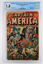 Captain America Comics #37 - CGC 1.8 GD- Timely 1944 - Red Skull App!