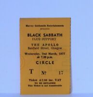 Original BLACK SABBATH - The Apollo Glasgow UK Ticket Stub Wed 2nd March 1977