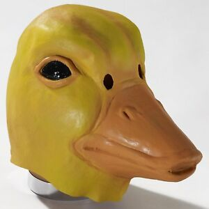 Deluxe Latex Animal Mask Adult: Yellow Duck