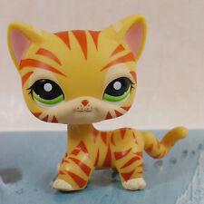 "CUTE Orange tiger cat  Kitty COLLECTION 3""  FIGURE LPS LITTLEST PET SHOP"