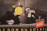 PUBLICITÉ DE PRESSE 1989 RADIO RMC LA POLITIQUE AUTREMENT LE DON DU SOLEIL