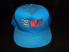 Vintage Old Style Beer Racing Team Trucker Hat Cap Blue CORVETTE RARE