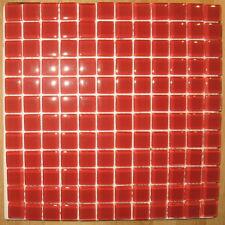 1x Glas Mosaikfliese - Rot - Restposten