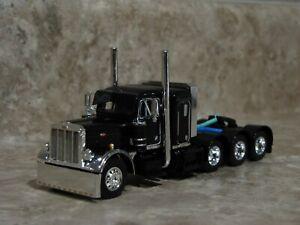 DCP 1/64 Black Tri-Axle Peterbilt Semi Truck Farm Toy