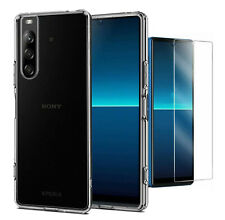 For Sony Xperia L4 Case Clear Slim Gel Cover & Glass Screen Protector