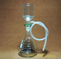1000ml,Lab Suction Filtration Kit,ID 70mm Buchner Funnel,1 L Erlenmeyer Flask
