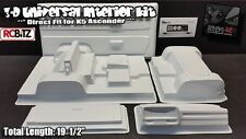 3D Universal Interior Kit WHITE Dinky R/C Door Cards Dash SIWV6 K5 Blazer SCX10