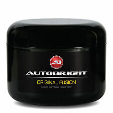 Autobright Carnauba Paste Car Wax #1 Pure Brazilian Yellow Original Fusion + App