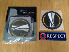 2015-17 Europa League & Respect OFFICIAL Sporting iD LEXTRA SensCilia Patch Set