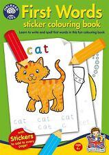Orchard Toys premiers mots KIDS/ENFANTS's Educational Autocollant/livre de coloriage BN