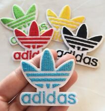"""Blue Adidas Logo Embroidered Patch Iron On 2"""" Traditional Adidas Symbol"""