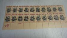 Horatio Alger.U.S.Scott #2010 Sheet 20-20c Mint Stamps