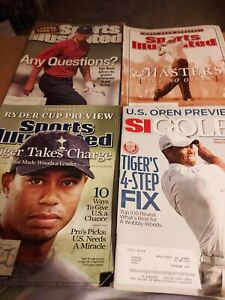 Vintage Sports Illustrated Magazines 2000-2011 Lot of 4 w/ Tiger Woods Featured