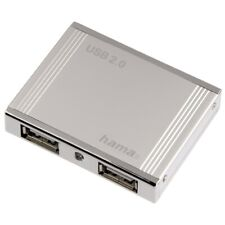 MULTIPRISE HUB USB 2.0 4 PORTS USB - HAMA - Boitier Aluminium POUR ORDINATEUR PC
