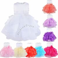 Toddlers Kids Dress Flower Girls Wedding Dresses Bridesmaid Party Birthday Gowns