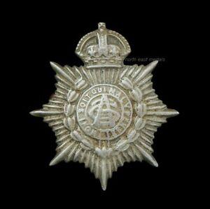 ASC Army Service Corps Edwardian Volunteer/Territorial White Metal Collar Badge