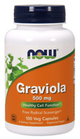 NOW FOODS Graviola 500mg - 100 Vegane Kapseln, VERSAND WELTWEIT