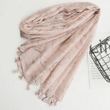 HK- Women's Tassel Scarf Long Wraps Dandelion Print Shawl Beach Travel Towel Rap