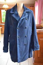 DIESEL -  joli manteau bleu en laine  - Taille S - BON ÉTAT