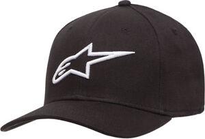 Alpinestars AGELESS Curve Flex-Back Hat/Cap (Black/White) Choose Size